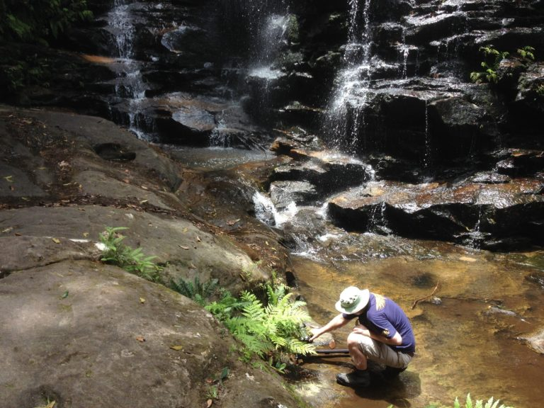 Use of tracking slider, Silva Falls, Blue Mountains